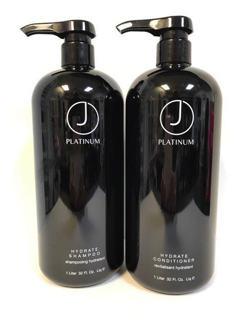 J Beverly Hills Platinum Hydrate Shampoo & Conditioner 32oz Liter Duo