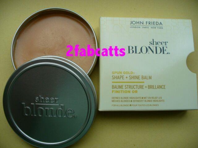 John Frieda Sheer Blonde Spun Gold Shaping Highlighting Balm Wax Shimmer Bn