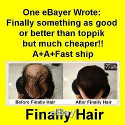 KERATIN HAIR LOSS CONCEALER FINALLY HAIR BUILDING FIBERS 25g+3g = 28g. 99oz. USA