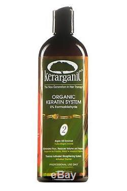 KERATIN TREATMENT KIT OF 3 STEPS ORGANIC FORMALDEHYDE FREE 16-oz