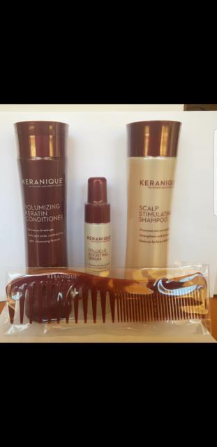 Keranique Set Shampoo + Conditioner + Follicle Boosting Serum+ Free Comb Auspost