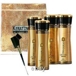 Keratin Cure OR MIEL TRAITEMENT CHEVEUX LISSAGE BRESILIEN 160ml 6 PC KIT COMPLET
