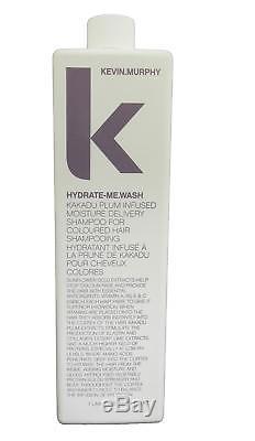 Kevin Murphy Hydrate-Me Wash Kakadu Plum Infused Moisture Shampoo, 33.6oz Liter