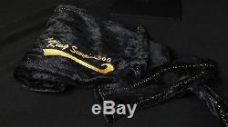 King Scorpion 360 GOLD Large 38 Black Crushed Velvet Du-rag Gold Collection