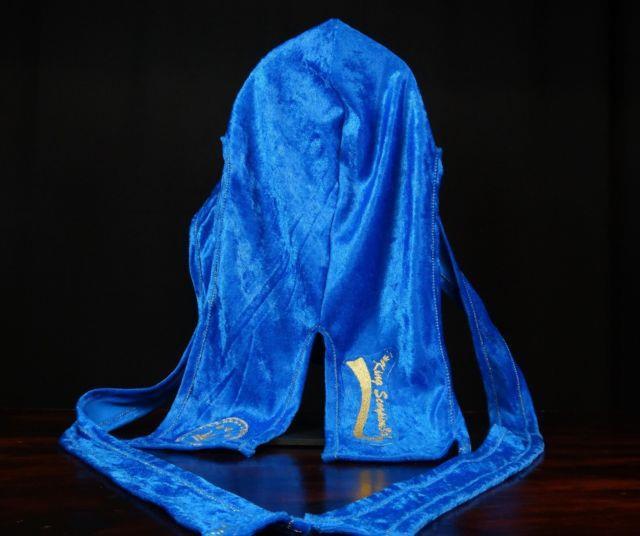 King Scorpion 360 Gold Collection Unisex 36 Fat Lace Prince Blue Velvet Durag