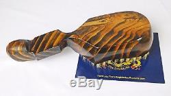 King Scorpion 360 Wave Brush Dark Golden Oak- 10 Row Hard 360 Wave Brush