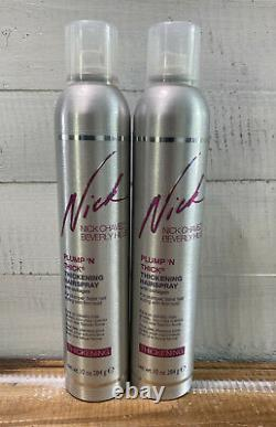 Lot 2 New Nick Chavez Plump'N Thick Thickening Hairspray 10 oz 300 ml Collagen