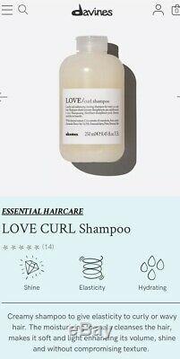 Lot 9 Davines LOVE Curl Primer 5.07oz Shampoo 8.45oz Cream New Curly Wavy Hair
