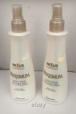 Lot Of 2. Nexxus Maxximum Super Hold Styling And Finishing Spray 10.1 oz Each