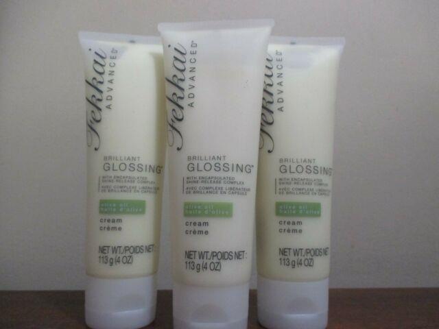 Lot Of 3 Fekkai Brilliant Glossing Cream With Olive Oil 4 Oz