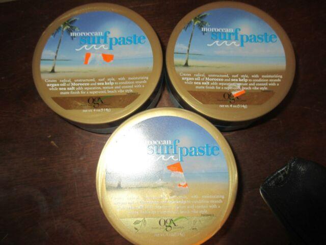 Lot Of 3 Moroccan Texturizing Surf Paste Hair Ogx Organix 4 Oz
