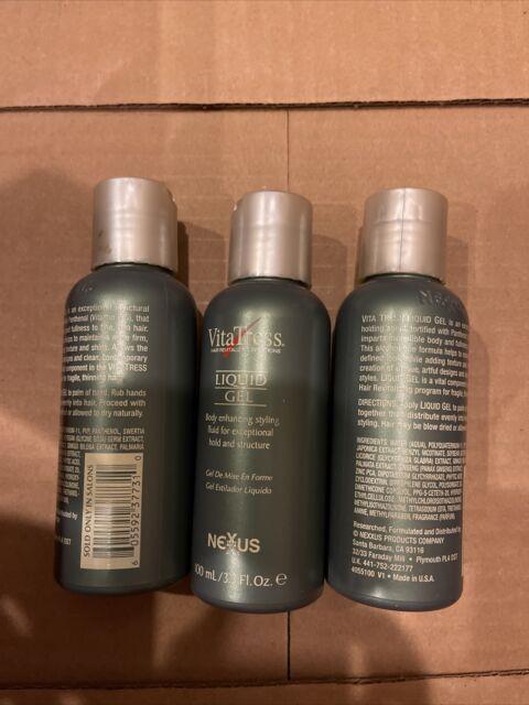 Lot Of 3 Nexxus Vitatress Liquid Gel 3.3 Oz Each. See Description