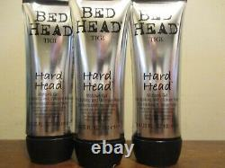 Lot of 3 TIGI Bed Head Hard Head Mohawk gel 3.4oz