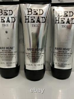 Lot of 3 TIGI Bed Head Hard Head Mohawk gel 3.4oz new