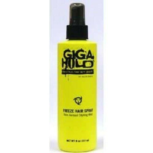 Lot Of 4 Giga Hold Freeze Hair Spray Salon Grafix Non-aerosol Styling Mist, 8 Oz