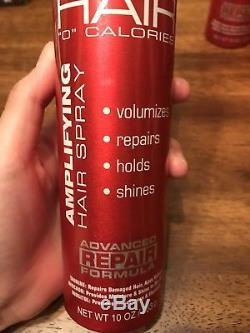 Lot of (7) Fat Hair 0 Calories Amplifying HairSpray Advanced Repair DETAILS