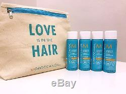 MOROCCANOIL LUMINOUS HAIRSPRAY STRONG 2.3 OZ x 4Four pack WITH TRAVEL BAG