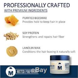 Mister Pompadour Natural Beeswax Paste For Men Hair Styling 2 Oz Perfect New