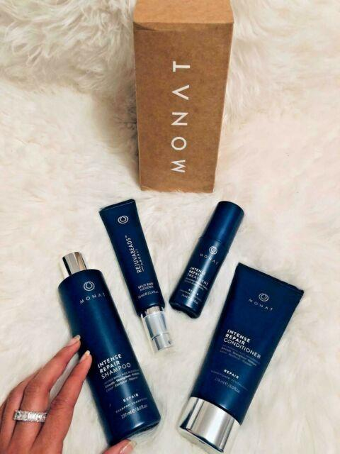 Monat Shampoo, Conditioner Intense Repair, Hair Treatment Bundle + Rejuvabeads