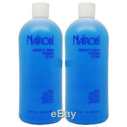 Nairobi Wrapp-It Shine Foaming Lotion 32oz Pack of 2