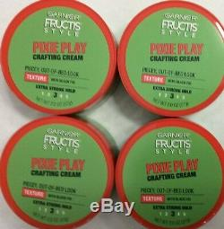 New 4 Garnier Fructis Style Pixie Play Crafting Cream Extra Strong Hold