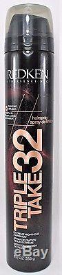 New Redken Triple Take 32 Extreme High-Hold Hairspray, 9 oz