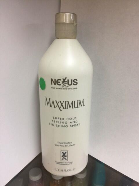 Nexxus Maxximum Super Hold Styling And Finishing Spray 33.8 Oz Original Formula