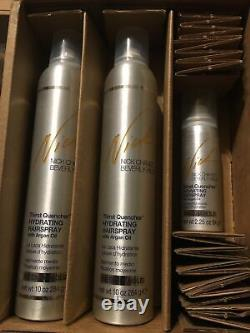 Nick Chavez Thirst Quencher hydrating hair spray. Med Hold. 10 Oz. 2 Pack Plus