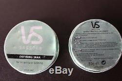ONE New Vidal Sassoon Defining Wax for Sculpting Shaping Shine Balm Tin Hair HTF