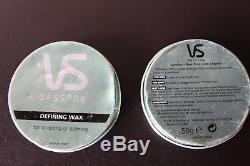 ONE New Vidal Sassoon Defining Wax for Sculpting Shaping Shine Balm Tin Hair HTF