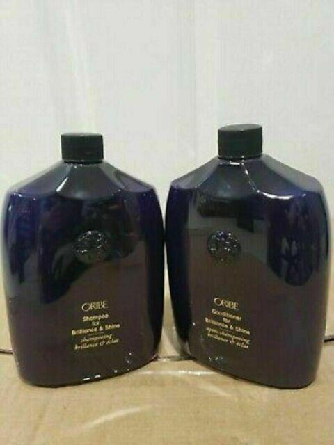 Oribe Shampoo & Conditioner For Brilliance & Shine Duo 33.8 Oz With Pump Nfr