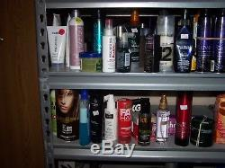 Over 200 Bottles of Hair Items & Brushes, Samples, Mostly Paul Mitchell