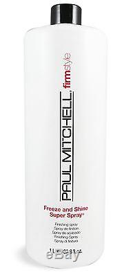 Paul Mitchell firm style Freeze Shine Super Spray, 33.8 oz (Pack of 7)