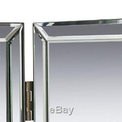 Perfecting Self Grooming Tri-Fold Vanity 3-Way Mirror Any Room With Beveled Edge