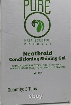 Pure O NeatBraid Conditioning Gel 64 oz each. Tubsize (Case of 3)