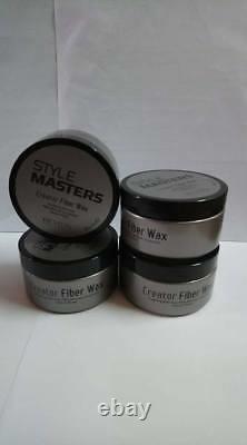 REVLON STYLE MASTERS CREATOR FIBER WAX 85G / 3oz. (Four Pcs)