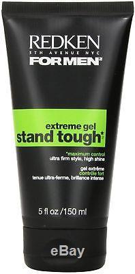 Redken For Men Stand Tough Extreme Gel, 5 oz (Pack of 7)