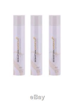 SEBASTIAN Shaper Plus Hairspray 3 Bottles 10.6 oz Each