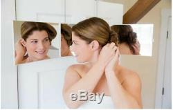 SELF-CUT Mirror Adjustable Tri-Fold Mirror for Home or Travel
