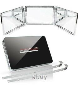 SELF-CUT SYSTEM 2.0 LED Lighted Black Lambo 3 Way Mirror with Free Educatio