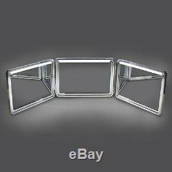 SELF-CUT SYSTEM 2.0 LED Lighted Black Lambo 3 Way Mirror with Free Educational