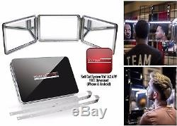SELF-CUT SYSTEM 2.0 LED Lighted Black Lambo 3 Way Mirror with Free Mobile App