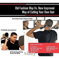 SELF-CUT SYSTEM Mirrors & Magnifiers Perfecting Self Grooming Black Lambo 3-Way