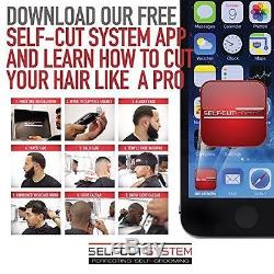 SELF-CUT SYSTEM Perfecting Self Grooming Black Lambo 3-Way Mirror NEW NO TAX