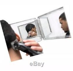 SELF-CUT SYSTEM Perfecting Self Grooming Black Lambo 3-Way Mirror Open Box