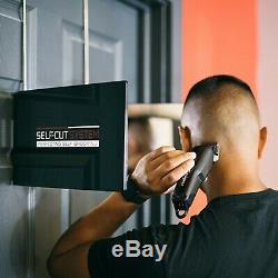 SELF-CUT SYSTEM Perfecting Self Grooming Black Lambo 3-Way Mirror sealed box
