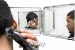 SELF-CUT SYSTEM Perfecting Self Grooming Black Lambo 3-Way Mirror with. New