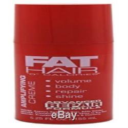 Samy Fat Hair 0 Calories Amplifing Creme 5.25Oz (3 Pack) Strong Lightweight Ne