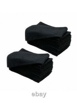 SydneySalonSupplies 135g LUXE BLACK SALON Cotton Hand Towels Hair/Barber/Beauty
