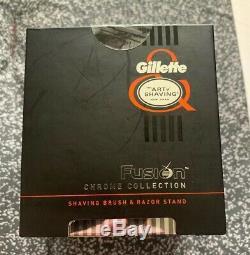 The Art of Shaving Fusion Chrome Collection Shaving Brush & Razor Stand